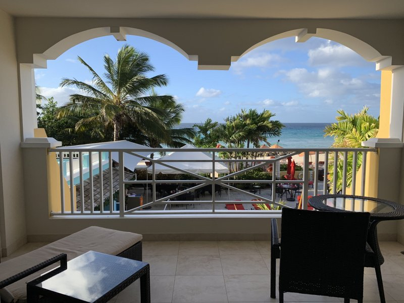 view from balcony in Barbados