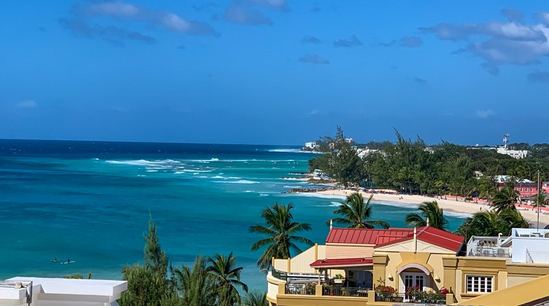Barbados beach view
