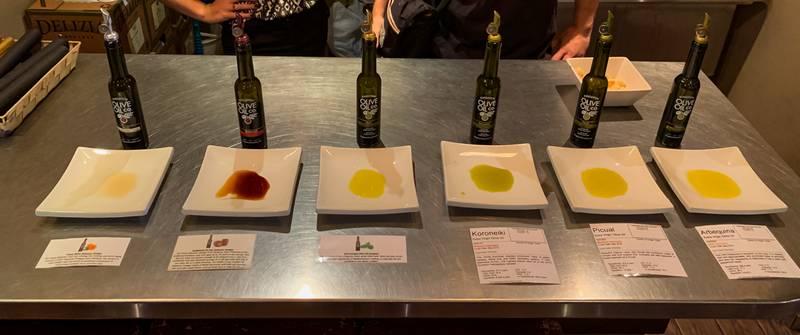 Tasting bar at Kingston Olive Oil Company